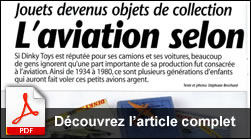 L'aviation selon Dinky Toys